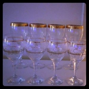 Water and wine glasses